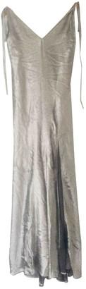 ATTICO Silver Silk Dresses