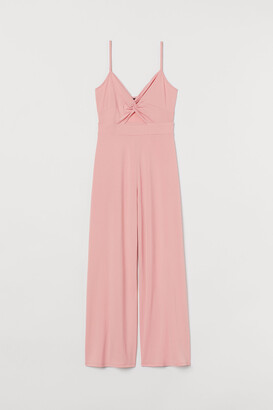 H&M V-neck Jersey Jumpsuit