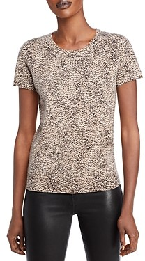 C by Bloomingdale's Leopard Print Short Sleeve Cashmere Sweater - 100% Exclusive