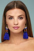 Shashi Delaney Blue Tassel Earrings