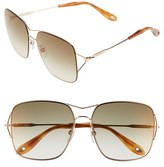 Givenchy Women's 58Mm Oversized Sunglasses - Gold Copper