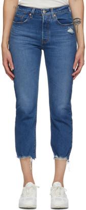 Levi's Levis Indigo 501 Original Cropped Jeans