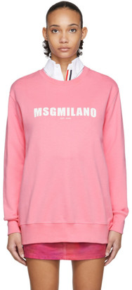 MSGM Pink 2009 Logo Sweatshirt