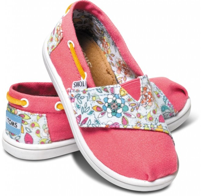Toms Pink Inked Floral Tiny Biminis