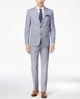 Ben Sherman Men's Slim-Fit Blue/White Plaid Suit