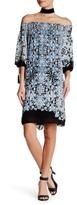 Max Studio Floral Off-The-Shoulder Shift Dress