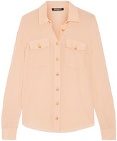 Balmain Silk Crepe De Chine Shirt - Peach
