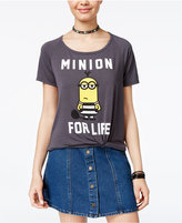 Hybrid Despicable Me Juniors' Minion For Life Graphic T-Shirt