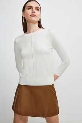 Karen Millen Button Back Knit Jumper