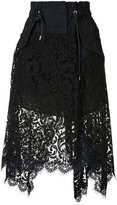 Sacai asymmetric lace skirt - women - Cotton/Nylon/Rayon - 2