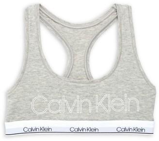 Calvin Klein Racerback Logo Bralette
