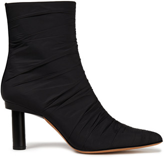 Tibi Ruched Shell Ankle Boots