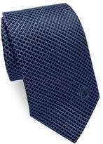 Versace Curved Web Silk Tie