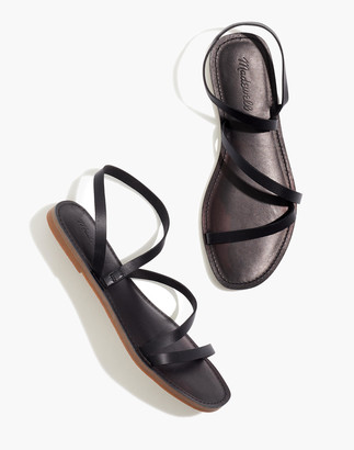 Madewell The Boardwalk Anklet-Strap Sandal in Leather