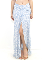 West Coast Wardrobe Daisy Lee Floral Maxi Skirt in Print