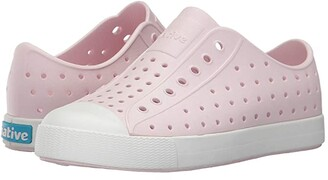 Native Jefferson (Little Kid/Big Kid) (Milk Pink/Shell White) Girls Shoes