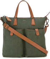 Zanellato contrast shoulder bag - men - Leather/Canvas - One Size