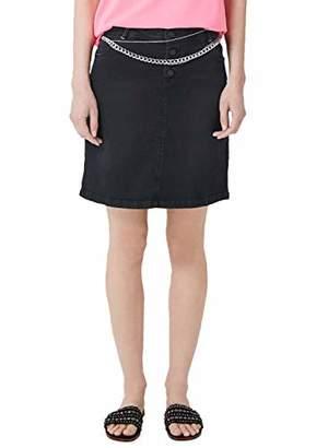 S'Oliver Women's 14.904.79.2902 Skirt, White Denim Stretch 01Z4, 18 (Size: )
