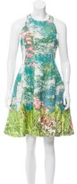 Tracy Reese Floral Print Silk & Linen-Blend Dress