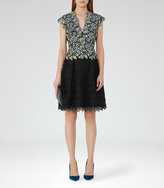 Reiss Idie Lace And Embroidery Dress