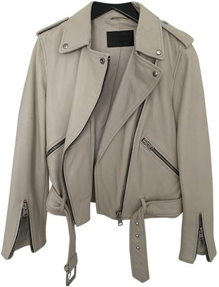 AllSaints White Leather Jacket for Women