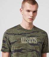 AllSaints Stamp Camo Crew T-Shirt