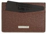 BOSS 'Signature' Leather Card Case
