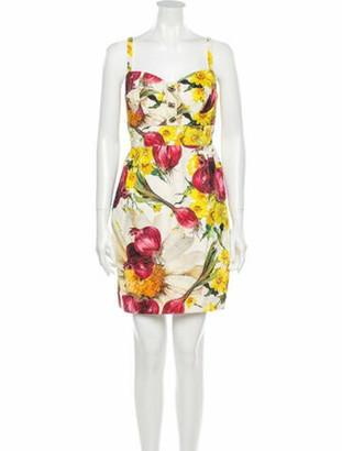 Dolce & Gabbana Floral Print Mini Dress