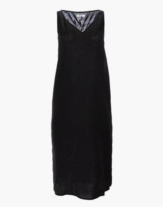 Madewell Petite Linen-Blend V-Neck Tank Dress