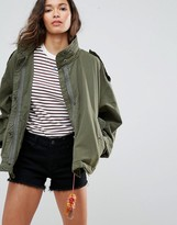 Maison Scotch Relaxed Fit Army Jacket