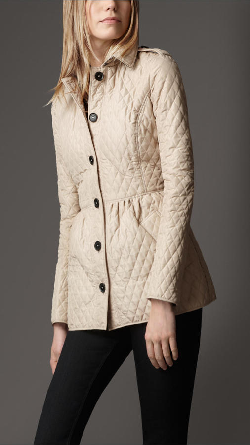 Burberry Quilted Peplum Jacket