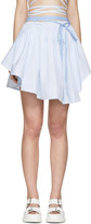 Alexander Wang Blue and White Striped Wrap Skirt