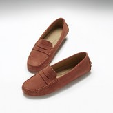 Hugs & Co Womens Penny Driving Loafers Mango Suede
