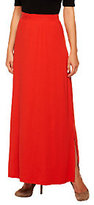 Isaac Mizrahi Live! Live Petite Knit Maxi Skirt with Side Slits