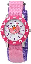 EWatchFactory Girl's 'Sesame Street' Quartz Stainless Steel and Nylon Watch, Color:Pink (Model: W003185)