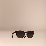 Burberry Folding Round Frame Sunglasses