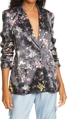 Cinq à Sept Kylie Floral Satin Jacket