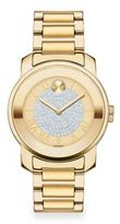 Movado Bold Luxe Crystal & Goldtone IP Stainless Steel Bracelet Watch