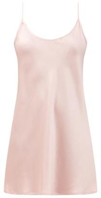 La Perla Semplice Silk-satin Slip Dress - Light Pink