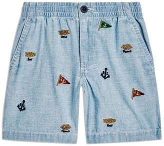 Ralph Lauren Kids Nautical Embroidered Shorts (5-7 Years)