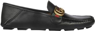 Gucci Drive Web Loafers