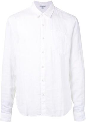 James Perse Long Sleeve Linen Pocket Shirt