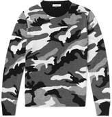 Valentino Camouflage-Print Cashmere Sweater