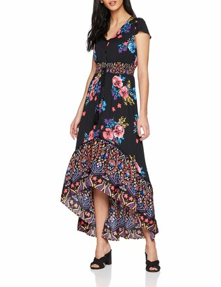 Joe Browns Women's Funky Fishtail Border Print Dress Black (A-Black Multi (Size:12)