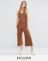 House of Sunny House Of Sunny Cropped Wide Leg Pants Co-Ord