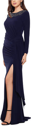 Xscape Evenings Illusion-Top Gown
