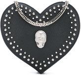 Philipp Plein heart shoulder bag - women - Leather/metal - One Size