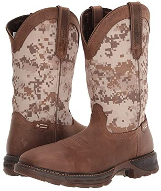 Durango Maverick 11 WP Steel Toe (Dusty Brown/Digital Camo) Cowboy Boots