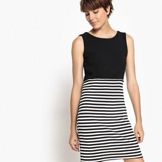 Short Sleeveless Printed Figure-Hugging Dress