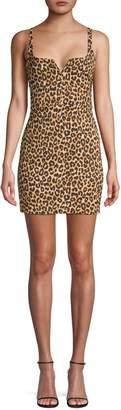 Koral Constance Leopard-Print Mini Dress